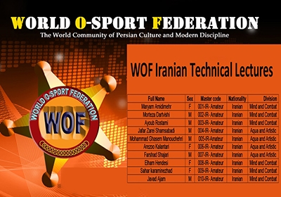 WOF IRANIAN TECHNICAL LECTURES 2018
