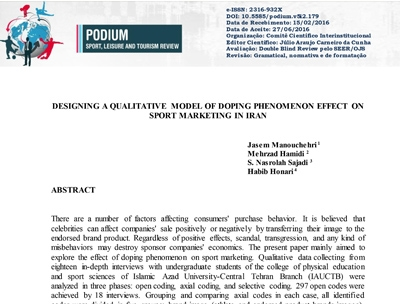 DESIGNING A QUALITATIVE MODEL OF DOPING PHENOMENON EFFECT ON SPORT MARKETING IN IRAN